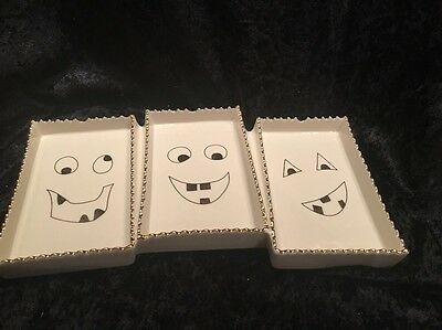 "Lenox Spooky Monster The Halloween Serve Candy Dish Tray 12.2"" Porcelain"