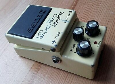 Boss SD1 Japan 1986 Super Overdrive guitar effects pedal vintage MIJ