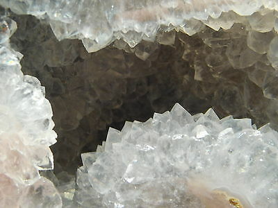A DEEP Crystal Filled VUG! on This Big Polished DUGWAY Geode With a Stand! 651gr