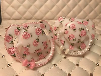 Vintage roses and pearls reborn doll dummy CHOOSE COLOUR - ONE SUPPLIED