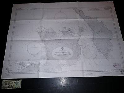 Antique Vintage US Navy Nautical Chart Aeronautical Map Bismarck Pacific Islands