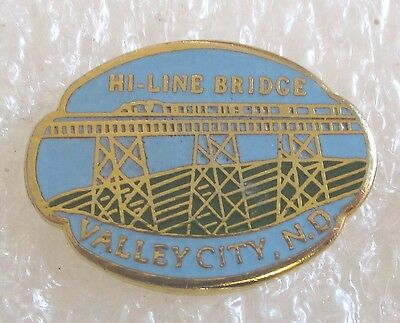 Hi-Line Railroad Bridge-Valley City, North Dakota Travel Souvenir Collector Pin