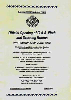 Official Opening of Ballycommon GAA Pitch 1982, Nostalgia, Offaly v Mayo