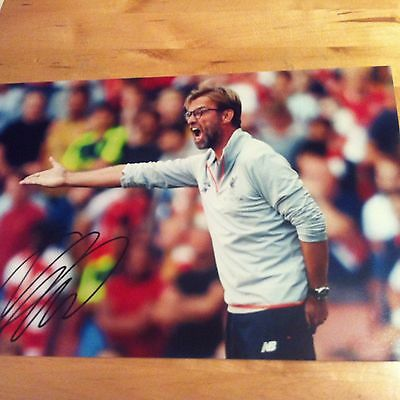 JUERGEN KLOPP ( LIVERPOOL ) signed autographed 12 x 8 photo signed