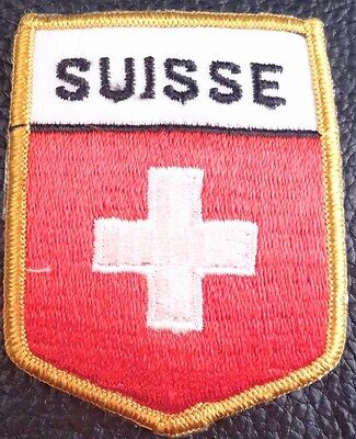 L) Vintage Swisse swicc cross patch (iron on)