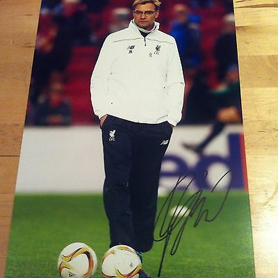 JUERGEN KLOPP ( LIVERPOOL ) signed 12x8 photo signed