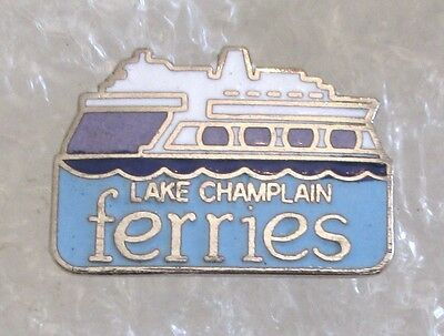 Lake Champlain Ferries - Vermont Travel Souvenir Collector Pin