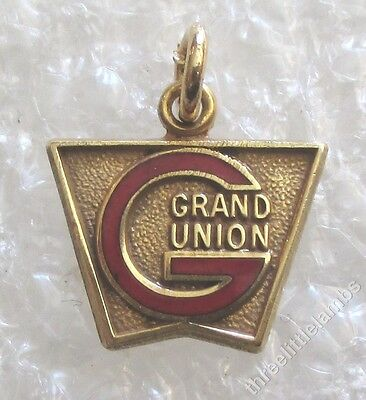 Vintage Grand Union Supermarket Grocery Store Employee Service Award Charm