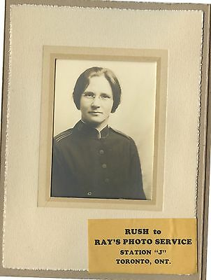 Antique Cabinet Photo Young Woman Salvation Army Uniform