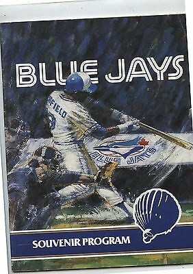 Old 1987 Toronto Dunedin Blue Jays Spring Training Game Program