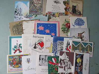 45 Old Vintage Greeting Cards Christmas Easter New Year Etc