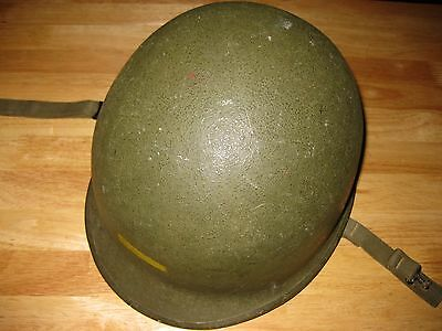 Original WW2 US Navy Marked Front Seam Helmet All Original