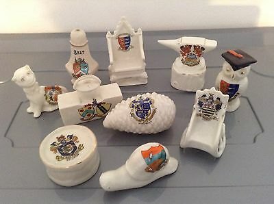 Crested China Ware,, Lot 8,, Willow,queens,podmore,arcadian And More