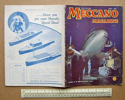1939 Meccano Magazine Classic Boys Engineering. Junkers Ju 90 Lufhansa Airliner