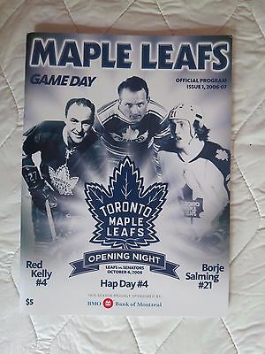 2006 Toronto Maple Leafs vs Ottawa Senators NHL program & ticket stub