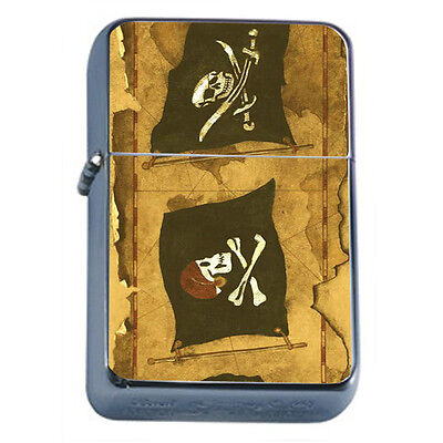 Vintage Pirate Ship D10 Windproof Dual Flame Torch Lighter Refillable
