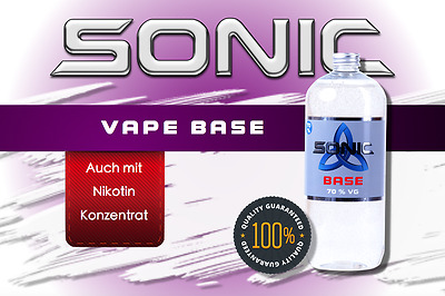 SONIC VAPE - 70 VG - Basisliquid - Basis - Base - 0/3/6mg Nikotin - E Liquid