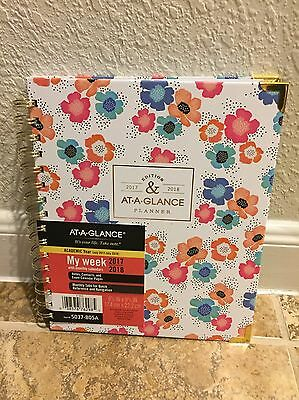 At-A-Glance 2017 2018 Calendar Planner Weekly Fashion Academic Hard Floral