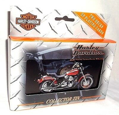 1999 Harley Davidson Playing Cards in Collectible Tin NOS #36568