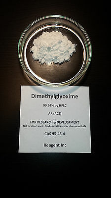 Dimethylglyoxime, 99.54%, Analytical Reagent (ACS), 100g