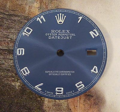 Indigo Dial For Men's Rolex Datejust Arabic Numbers For 36mm Case