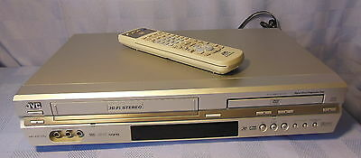 Excellent Silver Jvc, Dvd/vcr Player Combo With Its Original Remote Hr-Xvc33U