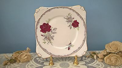 "Vintage Royal Stafford China Cake/sandwich Plate ""roses To Remember"""