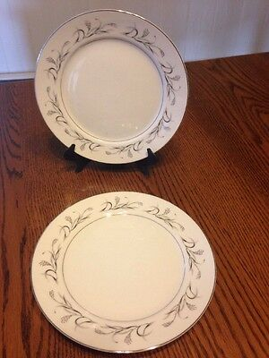 VTG HARMONY HOUSE FINE CHINA PLATINUM GARLAND 3541 SET(s) 2 SALAD PLATES