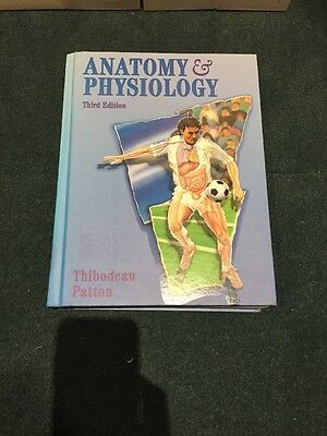 Anatomy And Physiology textbook, Hardcover, Book, By Thibodeau Patton