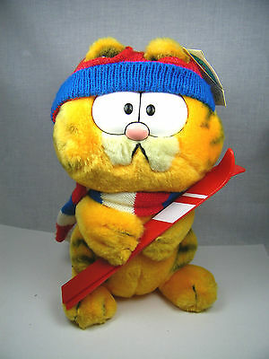 "Garfield Dakin 9"" Vintage Stuffed Animal 1981 Snow Skiing"