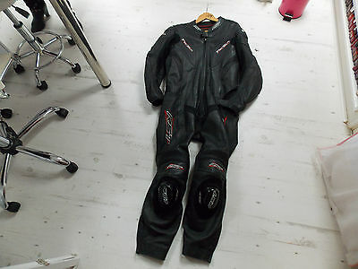 Rst tractech racing leathers black uk44