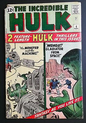 The Incredible Hulk #4 Origin Retold November 1962