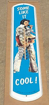 """Vintage """"Some Like It Hot"""" Elvis Presley Advertising Thermometer 1970's"""