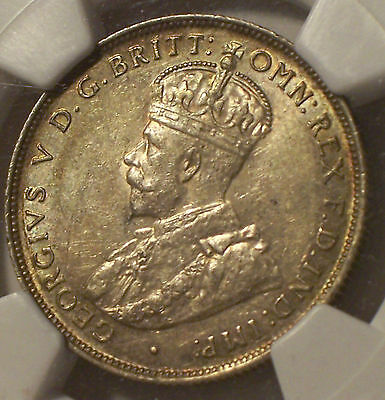 British West Africa, 1915 - H George V Two Shillings, 2 Shillings. NGC - AU - 58