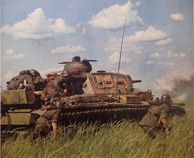 ORIGINAL 1943 Poster PANZER III TANK German East front Russia TOP Color Agfa