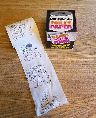 Vintage Roll Games For The John Toilet Tissue Paper W/Funny Sayings