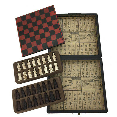 Antique Chess Games Board Game Wooden Case Vintage Chess Set New Arrived