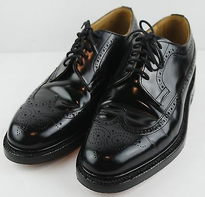 Churchill Mens Black Leather Dress Shoes Oxford Wing Tip Size US 8.5-9M