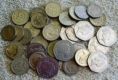 Various Great Britain Coins equaling 21 Pounds