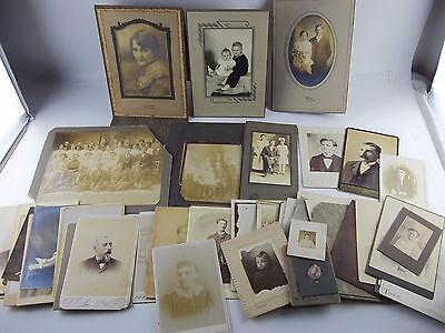 Lot of 52 CABINET CARDS and Antique Victorian Photo's, Family, Children, Men