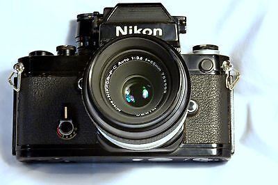 Nikon F2AS Photomic 35mm SLR Film Camera with micro Nikkor lens
