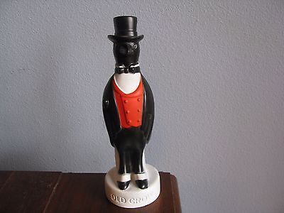 Vintage Old Crow Kentucky Bourbon Whiskey Hard Rubber Advertising Display Figure