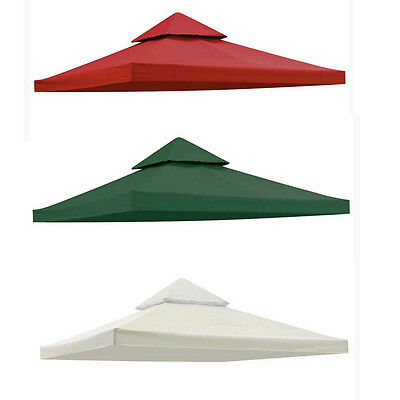 10' X 10' Gazebo Top Cover Patio Canopy Replacement Fabric 2-Tier 3 Color New
