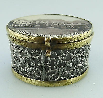 Antique Boxes : A unusual Dutch Ring / Pill Box C.1890