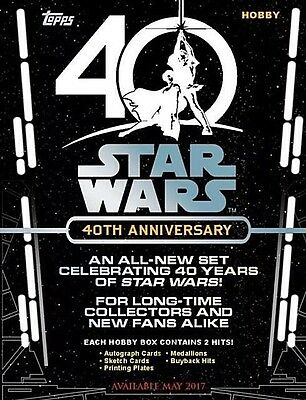 2017 Topps Star Wars 40th Anniversary SEALED 8 Box Hobby Case  FREE SHIPPING