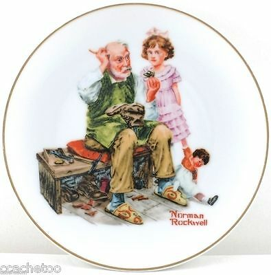 The Cobbler Norman Rockwell Museum Porcelain Collector 6.5-in Plate 1984