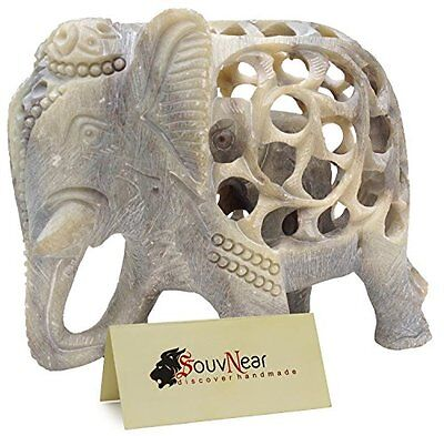 Sale on Statue - Mom and Me - Mother Elephant with Baby Inside - 5 Inch Stone...