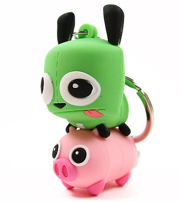 INVADER ZIM 3D Figural Keyring Series GIR RIDING PIG KEYCHAIN Exclusive B