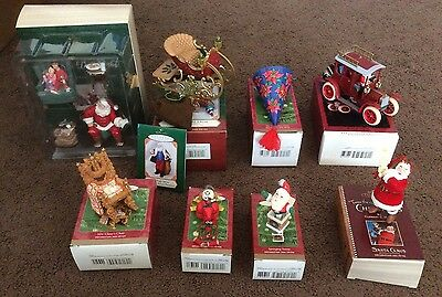 Hallmark KEEPSAKE ORNAMENTS - Lot of 8 - 2001 2002