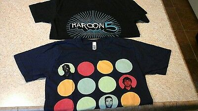 TWO! MAROON 5 T-Shirts Small~North American Tour 2013 and Maroon 5 One-Sided